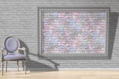 L33506 cikkszámú tapéta.Kőhatású-kőmintás,fehér,kék,lila,gyengén mosható,vlies tapéta