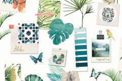 L37304 cikkszámú tapéta.Fotórealisztikus,természeti mintás,fehér,türkiz,zöld,gyengén mosható,vlies tapéta