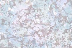 L39101 cikkszámú tapéta.Virágmintás,kék,lila,szürke,gyengén mosható,vlies tapéta