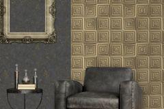 E85529 cikkszámú tapéta.Konyha-fürdőszobai,kőhatású-kőmintás,különleges felületű,különleges motívumos,arany,szürke,lemosható,vlies tapéta