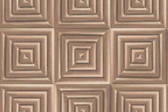 L44605 cikkszámú tapéta.3d hatású,absztrakt,különleges felületű,különleges motívumos,metál-fényes,barna,bronz,lemosható,vlies tapéta