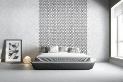 L52219 cikkszámú tapéta.3d hatású,csillámos,különleges felületű,virágmintás,ezüst,fehér,szürke,lemosható,vlies tapéta