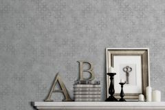 L57609 cikkszámú tapéta.Absztrakt,különleges felületű,különleges motívumos,virágmintás,szürke,lemosható,vlies tapéta