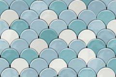 L59101 cikkszámú tapéta.3d hatású,absztrakt,csillámos,különleges felületű,különleges motívumos,fehér,kék,türkiz,zöld,lemosható,vlies tapéta