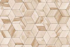 L59207 cikkszámú tapéta.3d hatású,absztrakt,geometriai mintás,különleges felületű,különleges motívumos,bézs-drapp,lemosható,vlies tapéta