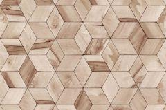 L59208 cikkszámú tapéta.3d hatású,geometriai mintás,különleges felületű,különleges motívumos,barna,lemosható,vlies tapéta