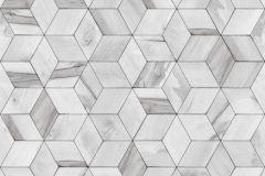 L59209 cikkszámú tapéta.3d hatású,absztrakt,különleges felületű,különleges motívumos,ezüst,szürke,lemosható,vlies tapéta