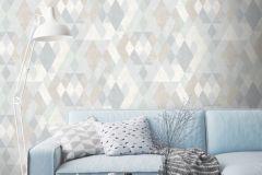 L59807 cikkszámú tapéta.Geometriai mintás,különleges felületű,különleges motívumos,fehér,kék,szürke,lemosható,vlies  tapéta