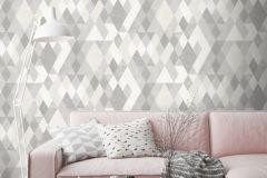 L59809 cikkszámú tapéta.Geometriai mintás,különleges felületű,különleges motívumos,fehér,szürke,lemosható,vlies tapéta