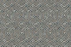 L60601 cikkszámú tapéta.3d hatású,geometriai mintás,különleges motívumos,barna,szürke,lemosható,vlies tapéta