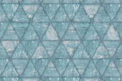 L61701 cikkszámú tapéta.Geometriai mintás,különleges motívumos,türkiz,lemosható,vlies tapéta