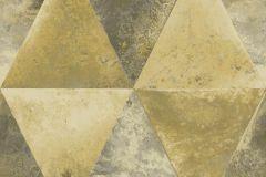 L62502 cikkszámú tapéta.Geometriai mintás,különleges felületű,különleges motívumos,metál-fényes,arany,ezüst,szürke,lemosható,vlies tapéta