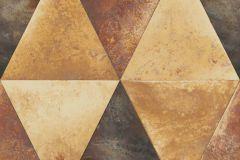 L62505 cikkszámú tapéta.Geometriai mintás,különleges felületű,különleges motívumos,metál-fényes,barna,ezüst,narancs-terrakotta,piros-bordó,lemosható,vlies tapéta