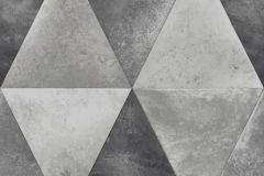 L62509 cikkszámú tapéta.Geometriai mintás,különleges felületű,különleges motívumos,metál-fényes,ezüst,szürke,lemosható,vlies tapéta