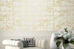 L62600 cikkszámú tapéta.Konyha-fürdőszobai,kőhatású-kőmintás,különleges felületű,különleges motívumos,metál-fényes,arany,fehér,lemosható,vlies tapéta