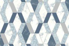 L63801 cikkszámú tapéta.Konyha-fürdőszobai,kőhatású-kőmintás,különleges felületű,különleges motívumos,metál-fényes,ezüst,fehér,kék,szürke,lemosható,vlies tapéta