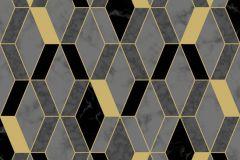 L63809 cikkszámú tapéta.Konyha-fürdőszobai,kőhatású-kőmintás,különleges felületű,metál-fényes,arany,fekete,sárga,szürke,lemosható,vlies tapéta