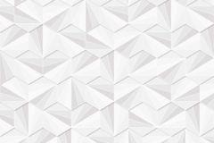 402405 cikkszámú tapéta.3d hatású,absztrakt,csillámos,geometriai mintás,különleges felületű,fehér,szürke,lemosható,vlies tapéta