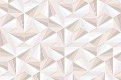 402412 cikkszámú tapéta.3d hatású,absztrakt,csillámos,geometriai mintás,különleges felületű,bézs-drapp,fehér,gyöngyház,lemosható,vlies tapéta