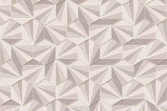 402429 cikkszámú tapéta.3d hatású,absztrakt,csillámos,geometriai mintás,különleges felületű,barna,bézs-drapp,fehér,lemosható,vlies tapéta