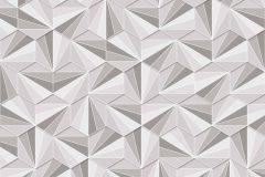 402436 cikkszámú tapéta.3d hatású,absztrakt,csillámos,geometriai mintás,különleges felületű,kék,szürke,lemosható,vlies tapéta