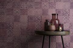 TP21291 cikkszámú tapéta.Konyha-fürdőszobai,különleges felületű,marokkói ,bézs-drapp,piros-bordó,szürke,gyengén mosható,vlies tapéta