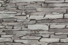 51122309 cikkszámú tapéta.Kőhatású-kőmintás,különleges felületű,barna,szürke,lemosható,papír tapéta