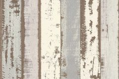 51152209 cikkszámú tapéta.Fa hatású-fa mintás,különleges felületű,barna,fehér,szürke,súrolható,illesztés mentes,vlies tapéta