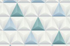 51176401 cikkszámú tapéta.3d hatású,különleges felületű,fehér,kék,szürke,türkiz,súrolható,vlies tapéta