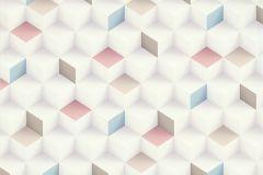 51176503 cikkszámú tapéta.3d hatású,különleges felületű,barna,fehér,pink-rózsaszín,szürke,súrolható,vlies tapéta
