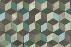51181504 cikkszámú tapéta.3d hatású,különleges felületű,barna,szürke,vajszín,zöld,súrolható,vlies tapéta