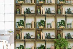 51181607 cikkszámú tapéta.Fotórealisztikus,különleges felületű,barna,bézs-drapp,zöld,súrolható,vlies tapéta
