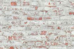 51182005 cikkszámú tapéta.Kőhatású-kőmintás,különleges felületű,narancs-terrakotta,szürke,súrolható,vlies tapéta