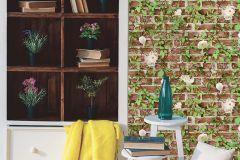 51182110 cikkszámú tapéta.Kőhatású-kőmintás,különleges felületű,természeti mintás,narancs-terrakotta,szürke,zöld,gyengén mosható,papír tapéta