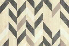 51184809 cikkszámú tapéta.Absztrakt,fa hatású-fa mintás,különleges felületű,barna,fekete,sárga,szürke,súrolható,illesztés mentes,vlies tapéta
