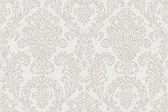 SR210101 cikkszámú tapéta.Barokk-klasszikus,különleges felületű,különleges motívumos,retro,ezüst,fehér,lemosható,vlies tapéta