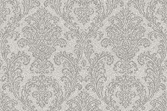 SR210102 cikkszámú tapéta.Barokk-klasszikus,különleges felületű,különleges motívumos,retro,ezüst,szürke,lemosható,vlies tapéta