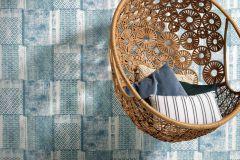 6349-08 cikkszámú tapéta.Absztrakt,különleges felületű,textilmintás,fehér,kék,lemosható,vlies tapéta
