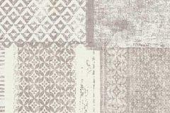 6349-11 cikkszámú tapéta.Absztrakt,különleges felületű,textilmintás,barna,fehér,szürke,lemosható,vlies tapéta
