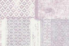 6349-22 cikkszámú tapéta.Absztrakt,különleges felületű,textilmintás,lila,pink-rózsaszín,lemosható,vlies tapéta