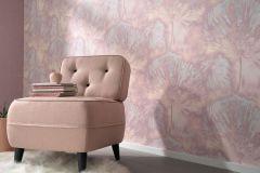 6352-22 cikkszámú tapéta.Absztrakt,természeti mintás,lila,pink-rózsaszín,lemosható,vlies tapéta
