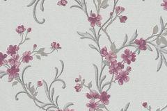 6933-17 cikkszámú tapéta.Virágmintás,pink-rózsaszín,piros-bordó,szürke,lemosható,vlies tapéta
