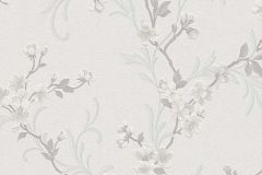 6933-31 cikkszámú tapéta.Virágmintás,fehér,szürke,lemosható,vlies tapéta