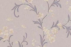 6933-45 cikkszámú tapéta.Virágmintás,fehér,sárga,szürke,lemosható,vlies tapéta