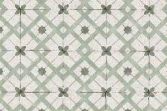 6366-07 cikkszámú tapéta.Geometriai mintás,konyha-fürdőszobai,különleges felületű,szürke,zöld,lemosható,vlies tapéta