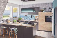 6366-15 cikkszámú tapéta.Geometriai mintás,konyha-fürdőszobai,különleges felületű,szürke,lemosható,vlies tapéta
