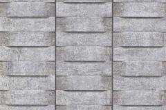 6368-15 cikkszámú tapéta.3d hatású,fa hatású-fa mintás,ezüst,szürke,lemosható,vlies tapéta