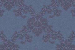 1760-08 cikkszámú tapéta.Barokk-klasszikus,különleges felületű,metál-fényes,ezüst,kék,vlies tapéta