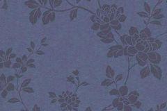 1761-08 cikkszámú tapéta.Virágmintás,különleges felületű,metál-fényes,kék,szürke,vlies tapéta