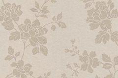 1761-14 cikkszámú tapéta.Különleges felületű,metál-fényes,virágmintás,bézs-drapp,vlies tapéta